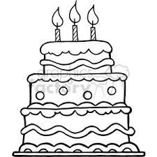 black white birthday cake