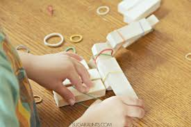 Hand Strengthening Activity For Kids To Play And Create Buildings With A Asimple No