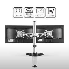 amazon com fleximounts m13 dual monitor stand desk mounts for 10