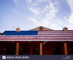 Tile Awning Over Business Made To Look Like The American Flag ... Awning Curtains American U Blind Co Commercial Covers And Retractable Skylight Awnings Fabric Fully Assembled Americana Building Products Shade Sails Patio Pergolas Denver Slidewiresamericanawningabccom Company Eureka Military Tents About Us Tent Tile Awning Over Business Made To Look Like The Flag