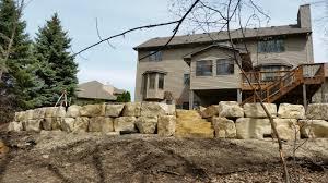 Dresser Trap Rock Boulders by Boulders For Retaining Wall Boulder Walls For Less Boulder Walls