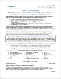 Technical Writer Re Writing Resume Examples On Objective