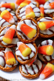 Utz Halloween Pretzels by Candy Corn Pretzel Hugs Sallys Baking Addiction