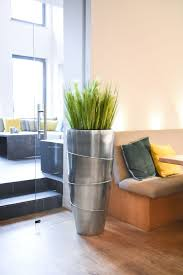 details zu exklusiver blumenkübel pflanzkübel vase fiberglas moena 100 cm silber metallic