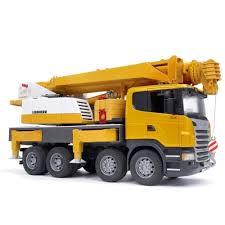 Bruder - 03570 | Construction: SCANIA R-Series Liebherr Crane Truck ...