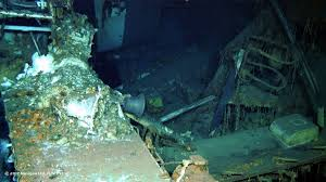 Uss America Sinking Photos by Wreckage From Uss Indianapolis Located In Philippine Sea Paul Allen