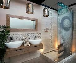 badezimmer in helle farben zen buddha duschkabinne