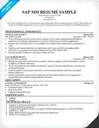 Sample Resume For Bank Jobs Freshers Sap Mm