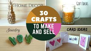 30 Crafts To Make And Sell DIY Easy Money Online On Etsy Or At Craft Fairs