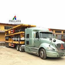 China 3 Axles Flatbed Container Transport Truck Semi 20FT 40FT ...