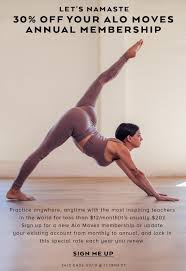 Alo Yoga: Get It Om—30% Off Your Alo Moves Annual Membership ...