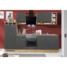 respekta küchenzeile 280 cm grau wildeiche nachbildung