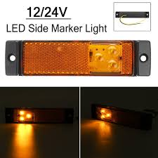 100 Truck Marker Lights New 3 LED Side With Rear Reflector Indicator