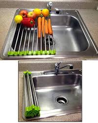 Stainless Steel Sink Grid Amazon by Amazon Com Folding Drain Rack Vegetable Rinsing Station