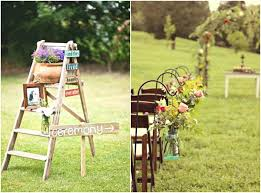 Awesome Outdoor Wedding Decoration Charming Rustic About Remodel Tables And Chairs With
