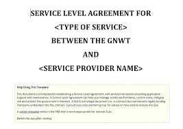 Service Level Report Template Best Simple Vendor Agreement Free Templates For Powerpoint Animated