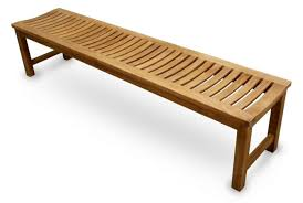 lindo teak backless bench picture on charming backless garden