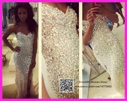shiny 2016 mermaid crystal prom dresses sweetheart vestido