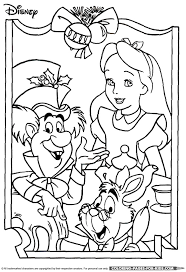 Alice In Wonderland Christmas Coloring Page
