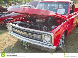 1970 Red Chevy Truck Front View Editorial Image - Image Of Chevy ...