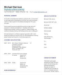Resume Sample For Software Engineer Graduate Headline Fresher