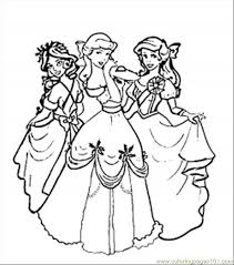 Christmas Disney Princesses Coloring Page