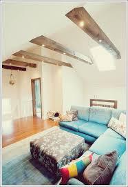wohnzimmer mit balken die inspirieren werden deko trend