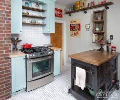 Subway Tiles For Backsplash by Subway Tile Backsplash With Wood Countertops And Butcher Blocks