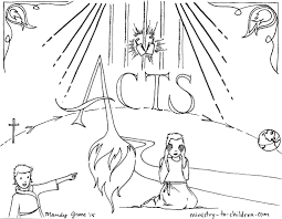 Acts Bible Book Coloring Page