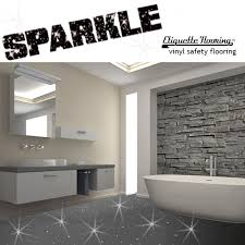 GREY Moonlight Sparkle Vinyl Flooring Etiquette Flooring TM is