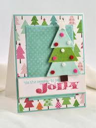 3 D Felt Christmas Tree Card