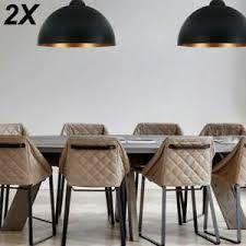 2x pendelleuchte schwarz gold design hänge leuchte decken