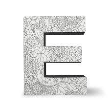 Color Joy Coloring Block Letters Letter E – DCI Gift