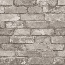 Rustic Brick Wallpaper Silver Grey ILW980058