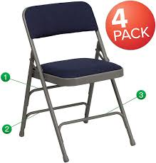 Flash Furniture 4 Pk. HERCULES Series Curved Triple Braced & Double Hinged  Navy Fabric Metal Folding Chair - Buy Amazon Brand Solimo Foldable Camping Chair With Flash Fniture 4 Pk Hercules Series 1000 Lb Capacity White Resin Folding Vinyl Padded Seat 4lel1whitegg Amazonbasics Outdoor Patio Rocking Beige Wonderplast Ezee Easy Back Relax Portable Indoor Whitebrown Chairs Target Gci Roadtrip Rocker Quik Arm Rest Cup Holder And Carrying Storage Bag Amazoncom Regalo My Booster Activity High Comfort Padding Director Alinum Mylite Flex One Black 4pack Colibroxportable Fishing Ezyoutdoor Walkstool Compact Stool 13 Of The Best Beach You Can Get On