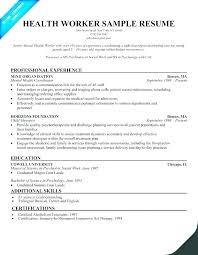 Social Work Resume Examples Summary