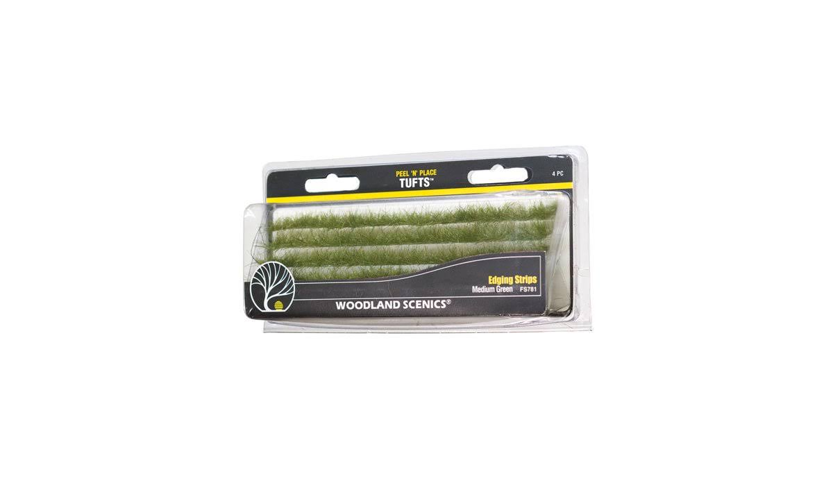 Woodland Scenics 781 - Peel 'n' Place Tufts Dark Green Edging Strips