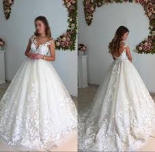 gorgeous ball gown lace long wedding dresses elegant a line