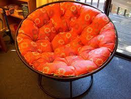 Oversized Papasan Chair Cushion furniture eye catching orange floral mini papasan chair ideas for
