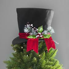 Say Goodbye To Traditional Christmas Tree Toppers And Hello One Thats Festive Fun Our Top Hat Topper Will Make Your Fir Look Extra Fancy For The