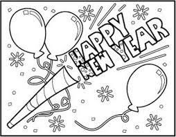 New Years Coloring Page Eve Pages Tryonshorts Free For Kids