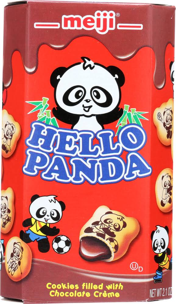 Meiji Hello Panda Cookies Filled with Chocolate Crème