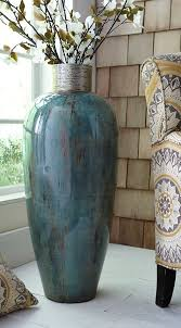 Blue Floor Vase For Nook By Stairs