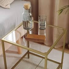gitterablage für wohnzimmer vasagle beistelltisch gold
