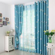 blue pink red sheer curtains