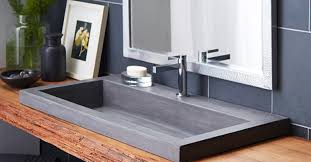Trough Sink With Two Faucets by Bathroom Faucet Marvelous Trough Sinks Amazing Double Bathroom