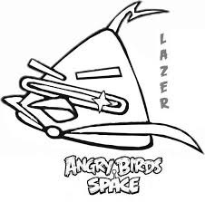 Angry Birds Space Character Lazer Bird Coloring Pages