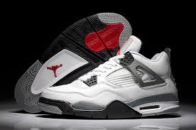 Nike Air Jordan 4 IV Retro Mens Shoes White Cement NK 00081