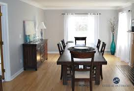 Sherwin Williams Silverplate In Dining Room With Oak Floor And Dark Wood Furniture Kylie M