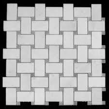 statuary marble italian white statuario basketweave mosaic